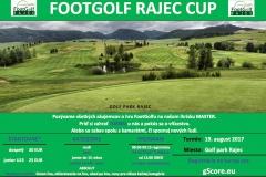Pozvánka Footgolf Rajec Cup III