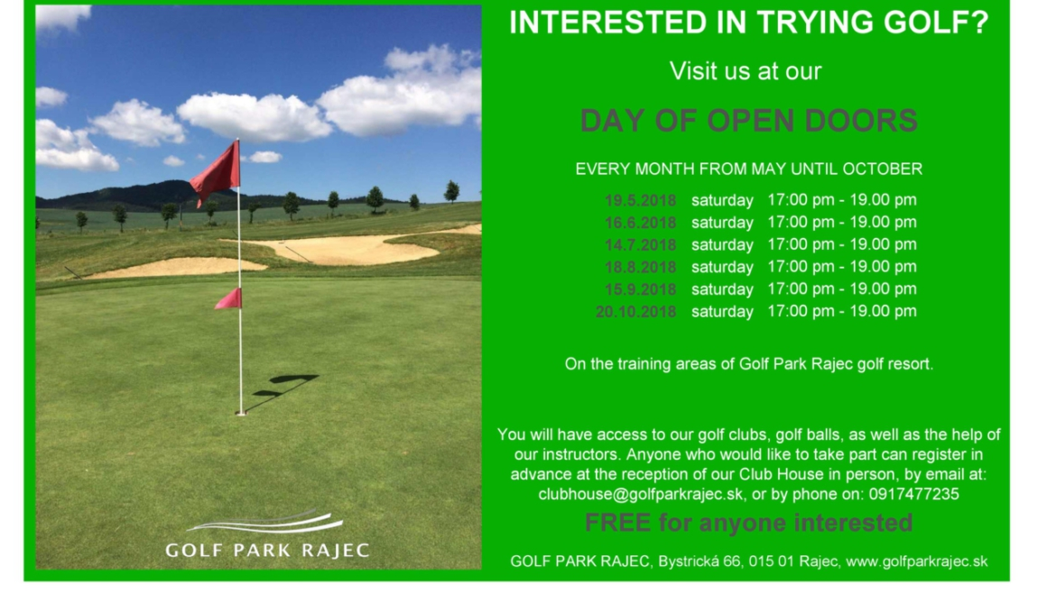 INTERESTED IN TRYING GOLF?