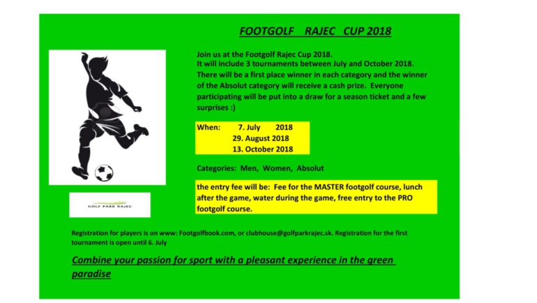 FOOTGOLF RAJEC CUP 2018