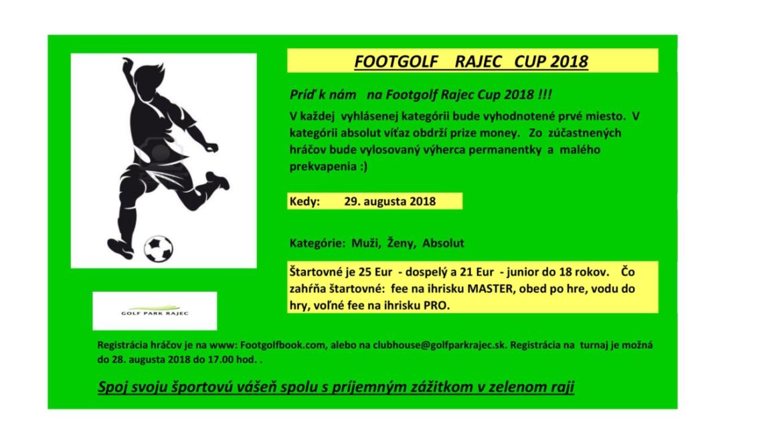 Footgolf Rajec Cup 2018
